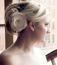 Norah  Ivory and french net bloom by PixelandHank on Etsy, $32.00
