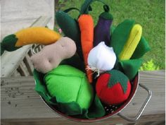 Good starting point for several types of felt veggies. Adjusted patterns as I went.