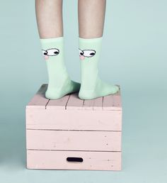 Friends for your wellies ! #pompom #cutesocks #pastel