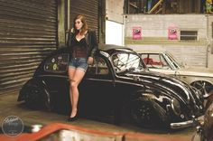 VW Beetle #slammed # black #lowered # sexy legs ♠... X Bros Apparel Vintage Motor T-shirts, Volkswagen Beetle & Bus T-shirts, Great price… ♠