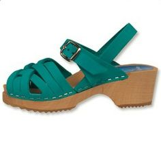 Bambi Turquoise Clog - Herringbone-inspired design, open-toe sandals for children. Available in three soft nubuck colors. Secured strap around ankle for support all day. Available in Children's sizes 24-34. SKU #2102004. Order here: http://store.capeclogs.com/BambiTurqoise.aspx.