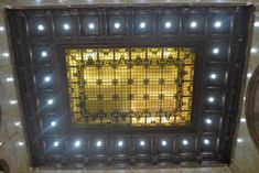 Woolworth Building stained glass ceiling light
