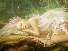 Sleeping beauty in the fantasy world on We Heart It Fairy Dust, Fairy Land, Fairy Tales, Forest Fairy, Real Fairies, Beautiful Fairies, Magical Creatures, Fantasy Creatures, Fantasy World