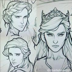 Nesta (TOP) Fierce, Elain (BOTTOM) Badass and Feyre Darling, High Lady of the Night court (CROWN) ACOMAF ACOWAR ACOTAR Sarah J. Maas