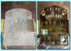 Concrete decor memorials projects are very popular with our customers and can really be a personal form of expression - Direct Colors End of Summer Photo Contest
