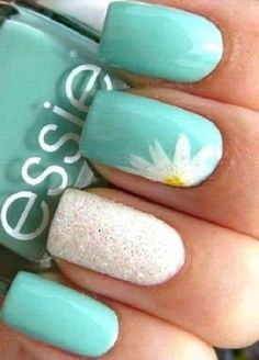 ideas nails 2018 summer turquoise nails nailsspring amazing beach nail designs with french palm trees only for you dont miss! Summer Gel Nails, Cute Summer Nails, Spring Nails, Summer Toenails, Summer Beach Nails, Summer Pedicures, Summery Nails, Summer Nails Almond, Summer Nails 2018