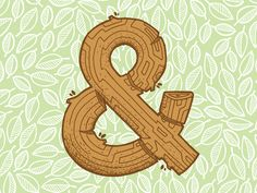 Dribbble - Another Wooden Ampersand by Jetpacks and Rollerskates