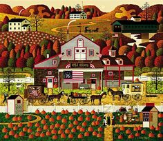 """Charles Wysocki Handsigned & Numbered Limited Edition Legacy Edition:""""Old Glory Farms"""" - Charles Wysocki"""