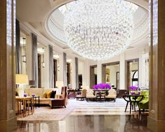 """World's best lighting design ideas arrive at Milan's modern hotels-The-Lobby-Lounge-Corinthia-Hotel-London"""