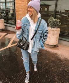 Beanie Outfit, Hoodie Outfit, Winter Fashion Outfits, Fall Winter Outfits, Mode Ootd, Looks Vintage, Mode Inspiration, Mode Outfits, Cute Casual Outfits