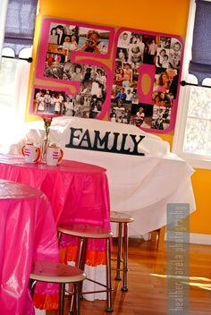 Dunkin' Donuts Party Theme Birthday} // Hostess with the Mostess® Moms 50th Birthday, 60th Birthday Party, 50th Party, 50th Birthday Decorations, Birthday Collage, Donut Party, Anniversary Parties, Anniversary Photos, Milestone Birthdays