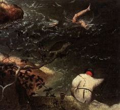 Pieter Bruegel, Landscape with the Fall of Icarus (detail), 1560s