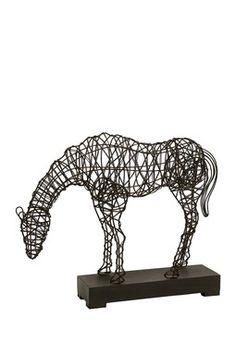 Man Cave Decor - CKI Anatole Woven Horse Statue
