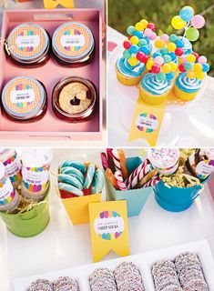 Love these ideas for treats/snacks. Especially the cherry-pie in a mason jar. Cute cute!!