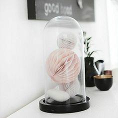 comment bien decorer pour noel avec une jolie cloche en verre et la cloche à gateau en verre