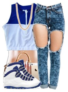 """""""Jordan"""" by polyvoreitems5 ❤ liked on Polyvore featuring Louis Vuitton, LOTTA, NIKE and Forever 21"""