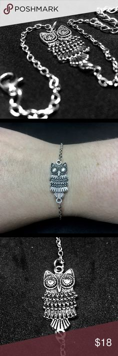 Dainty Owl Pendant Bracelet Minimalist owl pendant bracelet. Length is 22cm Jewelry Bracelets