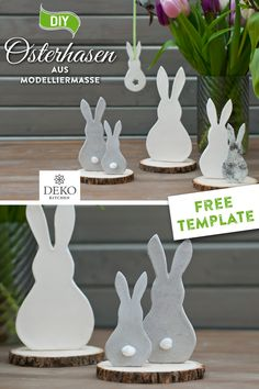 Happy Easter, Easter Bunny, Easter Crafts, Crafts For Kids, Wrought Iron Wall Decor, Diy Ostern, Decorative Items, Decorating Your Home, Clay