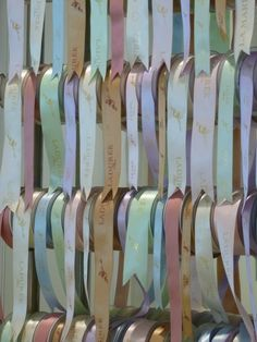 Laduree ribbons for packaging.