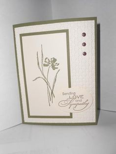 SU Always Artichoke, Very Vanilla, Lattice EF Hand Made Greeting Cards, Greeting Cards Handmade, 123 Cards, Get Well Cards, Sympathy Cards, Cool Cards, Flower Cards, Scrapbook Cards, Homemade Cards