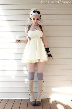 skimpy tea dress - love the whole ensemble though.