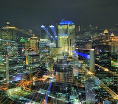 Jakarta City on Night. Indonesia