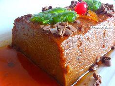 El toque de Belén: PUDDING DE CHOCOLATE Y PAN DURO AL MICROODAS