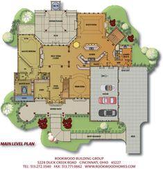 Unique Open Floor Plans   View Main level floor plan for Sophia's Harbor, Homearama® 2008 ...
