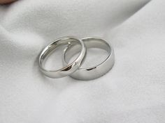 2 Rings-Free Engraving promise rings,Wedding Bands Couple Rings, Lovers rings, his and hers promise ring sets, wedding rings, valentine gift by PRORINGS on Etsy https://www.etsy.com/listing/228248491/2-rings-free-engraving-promise