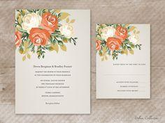 Blooming Roses Printable Wedding Invitations