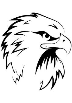 Black and White Eagle Head Clipart - Cliparts and Others Art Inspiration Wood Burning Patterns, Wood Burning Art, Stencil Art, Stencils, Animal Drawings, Art Drawings, Logo Animal, Eagle Drawing, Tattoo Outline
