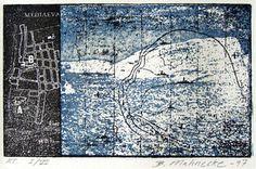Britta Mahnecke Grafik - Vandmærker 4 1997