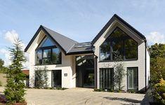 self build project Bungalow Exterior, Bungalow Renovation, Bungalow House Design, House Front Design, Dream House Exterior, Modern House Design, Farmhouse Architecture, Modern Farmhouse Exterior, House Designs Ireland