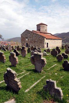 Petrova Crkva (Church of St Peter) and ancient cemetery.  Novi Sad, Serbia