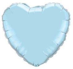 Pearl Blue Heart Balloon www.theoriginalpartybagcompany.co.uk