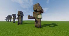 Small Statues - Minecraft World Minecraft Temple, Minecraft Kingdom, Minecraft Statues, Minecraft Structures, Minecraft Castle, Cute Minecraft Houses, Minecraft Plans, Amazing Minecraft, Minecraft Tutorial