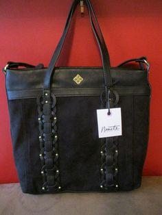 NANETTE LEPORE Black Emerson Convertible Handbag, Retails  99   NanetteLepore  TotesShoppers ca13392143