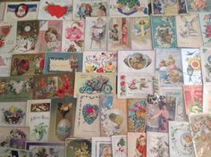 Nice! Vintage/Antique Lot of 1900's Holiday/Greetings Postcards-100 Cards-ttt742 #Easter