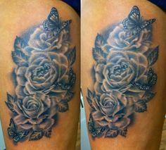 Butterflies and Roses by CreativeCurseKina.deviantart.com on @deviantART