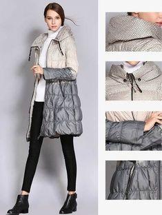 b62d173afa4 chaqueta mujer Thin Fashion Print Contrast Skirt winter Down Jacket Women  2019Fashion Print High Neck Cotton