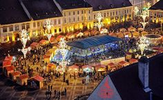 The Christmas Fair - Sibiu Photo: Sebastian Marcovici Before I Die, Sibiu Romania, Times Square, Places To Visit, Wanderlust, World, Amazing, Travel, Beautiful