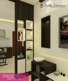Contemporary partition design provides an elegant look ✨ Room Partition Wall, Living Room Partition Design, Living Room Tv Unit Designs, Pooja Room Door Design, Room Partition Designs, Home Room Design, Living Room Divider, Wooden Partition Design, Wooden Partitions