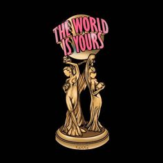 The world is yours 🔥 // commissionedwork. Tattoo Design Drawings, Tattoo Sketches, Tattoo Designs, Chicano Art Tattoos, Gangster Tattoos, Tattoo Outline Drawing, Outline Drawings, Scarface Movie, Graphisches Design