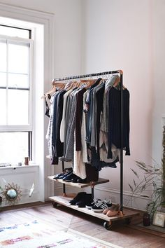 Put your favorites on display. Makes laying out your wardrobe easy for the week! Also great for guest!
