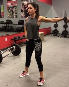 "8,054 Likes, 158 Comments - Fit Healthy Workouts (@fithealthyworkouts) on Instagram: ""Dumbbell Dynamite! By @alexia_clark 1. 10 reps each arm 2. 15 reps each 3. 10 each arm 4. 20…"""