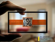 Some Creative Business Cards which are great for promoting yourself or a company in a way that will stand out and get you noticed. You can buy it here: . Creative Transparent Business Cards With QR Code Qr Code Business Card, Unique Business Cards, Creative Business, Business Contact, Business Tips, Web Design, Logo Design, Branding Design, Transparent Business Cards