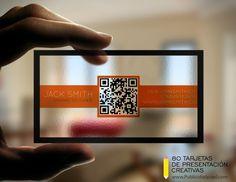 tarjetas de presentacion transparentes y creativas