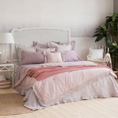 Soft pink polka-dot quilt and pillow cover - Quilts - Bedroom | Zara Home United States