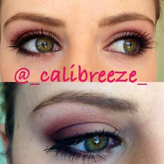 Makeup for green eyes by me :)