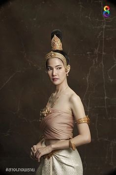 Sexy Asian Girls, Beautiful Asian Girls, Gorgeous Women, Traditional Thai Clothing, Traditional Dresses, Thailand Costume, Thai Dress, Thai Model, Thai Style